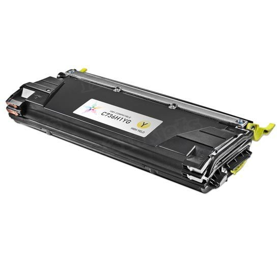 Remanufactured C736H1YG High Yield Yellow Toner for Lexmark