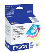 Original Epson 42 OEM Ink Cartridge Color 3-Pack, T042520, C/M/Y