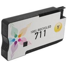 Remanufactured Replacement Ink Cartridge for CZ132A (HP 711) Yellow