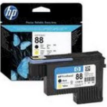 Original HP 88 Black and Yellow Printhead in Retail Packaging (C9381A)