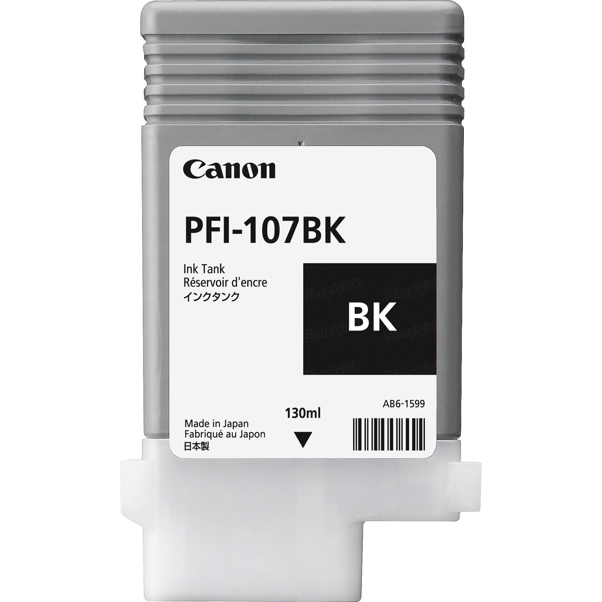 Canon PFI-107BK Black Ink Cartridge, OEM