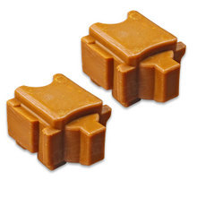 Compatible Xerox Set of 2 Yellow 108R00928 Solid Ink Blocks for the ColorQube 8570 / 8580