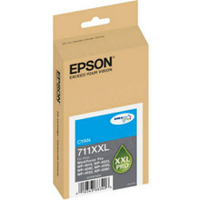 Original Epson 711XXL Cyan Inkjet Cartridge (T711XXL220), High-Capacity