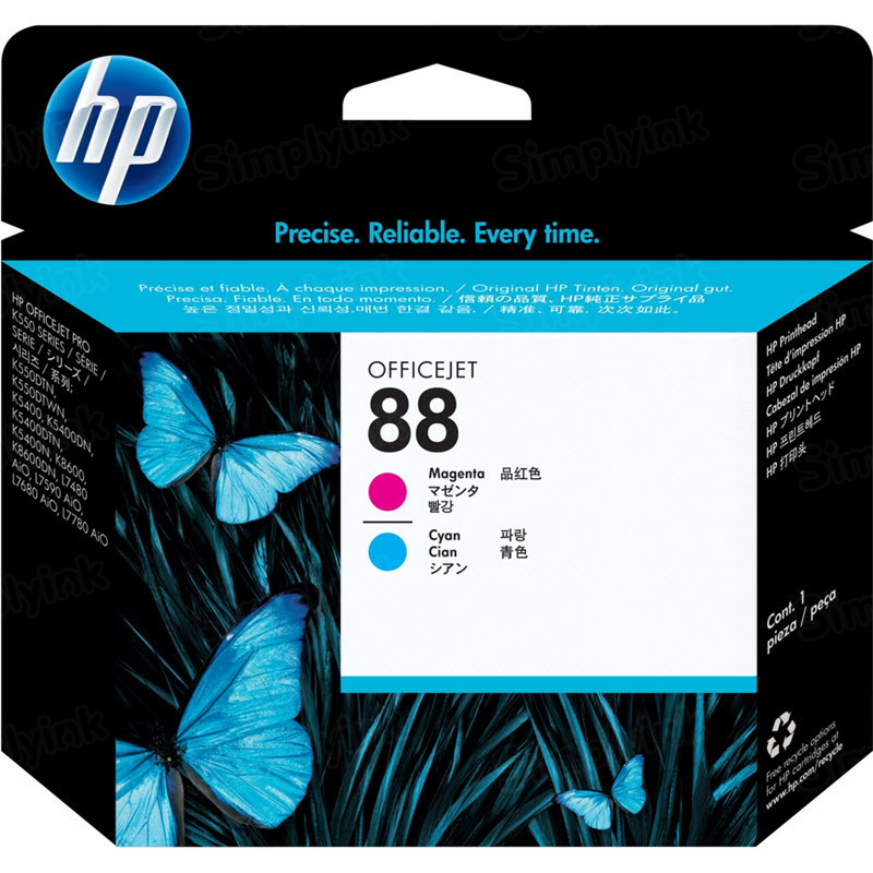 HP 88 Cyan and Magenta Original Printhead C9382A