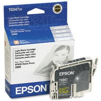 Epson T034720 Light Black OEM Ink Cartridge