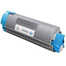 Compatible Okidata 43324468 Cyan Laser Toner Cartridges for the Oki C6000, C6050 4K Page Yield