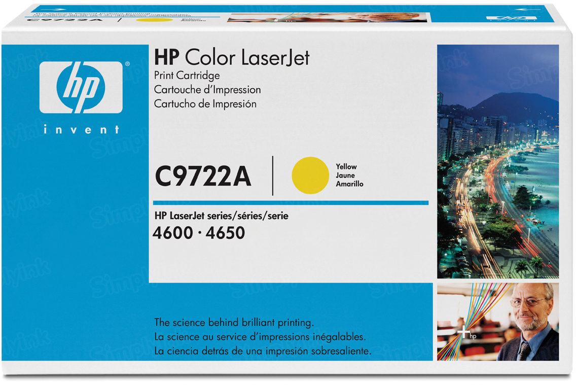 Original HP C9722A (641A) Yellow Toner