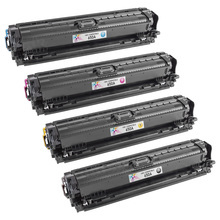 Remanufactured Replacement for HP 650A Black, Cyan, Magenta, Yellow Set of 4 Toner Cartridges