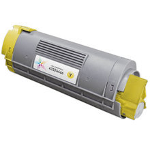 Compatible Okidata 43324466 Yellow Laser Toner Cartridges for the Oki C6000, C6050 4K Page Yield