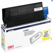 Original Yellow Type C6 Laser Toner Cartridge for Okidata 43034801 1.5K Page Yield