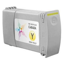Remanufactured Replacement Ink Cartridge for Hewlett Packard C4848A (HP 80) 350ml Yellow