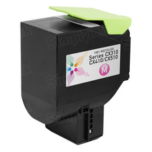 Lexmark Remanufactured Magenta Laser Toner Cartridge, 80C1SM0 (CX310/CX410/CX510 Series) (2K Page Yield)