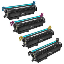 Remanufactured Replacement for HP 646X Black, Cyan, Magenta, Yellow Set of 4 Toner Cartridges