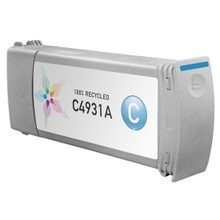 Remanufactured Replacement Ink Cartridge for Hewlett Packard C4931A (HP 81) Cyan