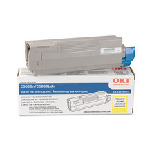 Original High Yield Yellow Laser Toner Cartridge for Okidata 43324401 5K Page Yield