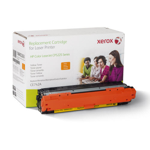 Xerox Remanufactured Yellow Laser Toner for Hewlett Packard CE742A