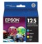 Original Epson 125 OEM  Ink Cartridge Color 4-Pack, T125120-BCS, BK/C/M/Y
