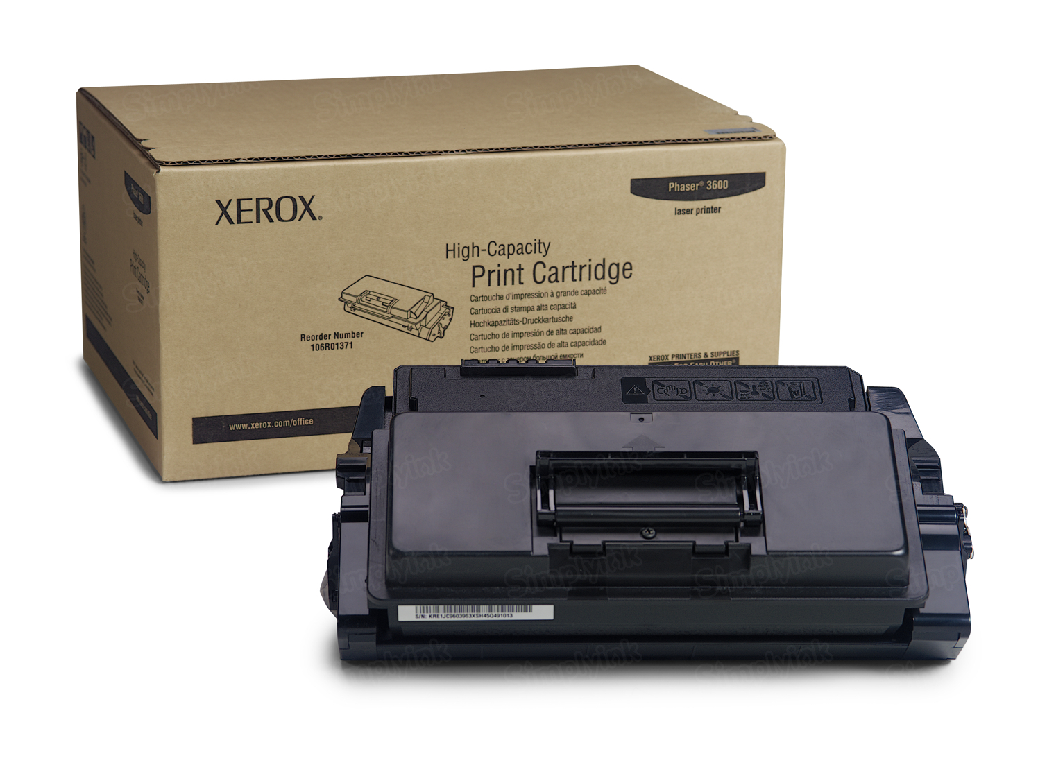 Xerox 106R01371 (106R1371) HY Black OEM Toner Cartridge