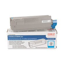 Original High Yield Cyan Laser Toner Cartridge for Okidata 43324403 5K Page Yield