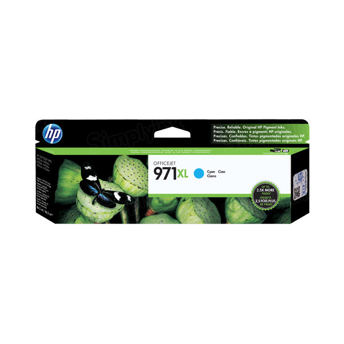 HP 971XL Cyan Original Ink Cartridge CN626AM