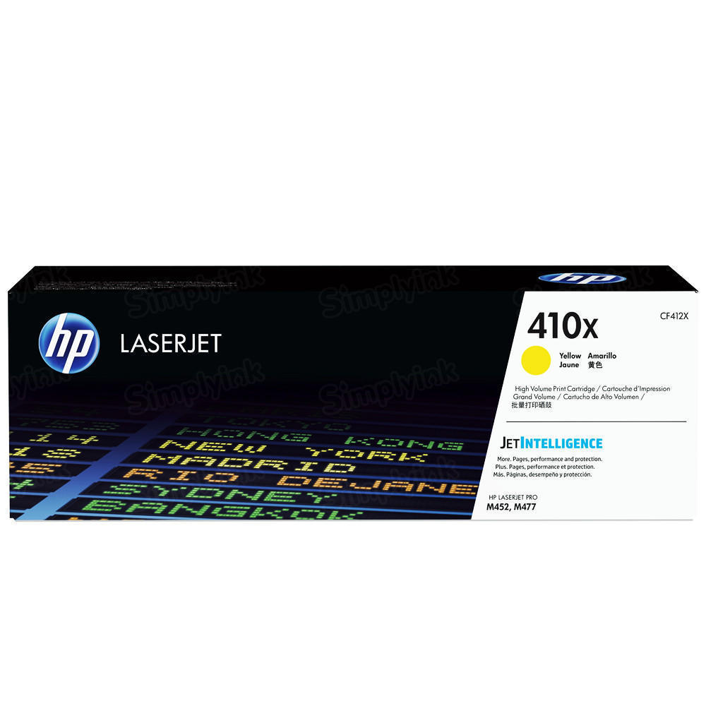 HP 412X Yellow Toner, Original CF412X