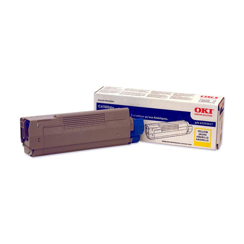 OEM Okidata 43324417 Yellow Toner Cartridge