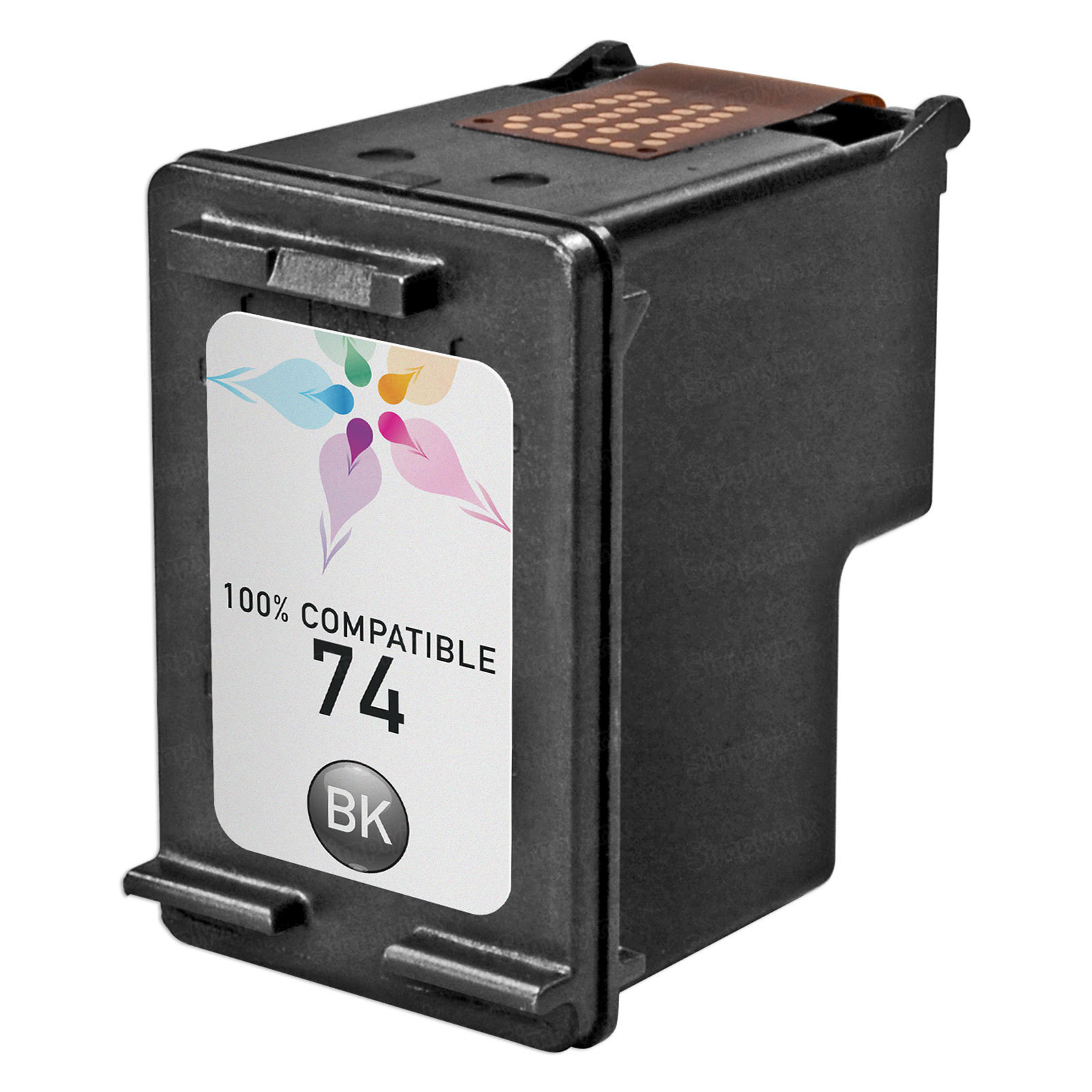 Remanufactured Replacement Black Ink for HP 74
