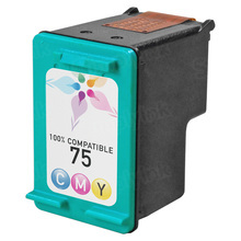 Remanufactured Replacement Ink Cartridge for Hewlett Packard CB337WN (HP 75) Tri-Color
