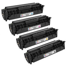 Compatible Replacement Bulk Set of 4 Toner Cartridges for HP 304A - 1 Each of: Black, Cyan, Magenta and Yellow