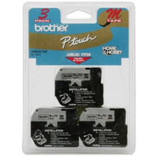 Brother M9213 Black on Silver OEM 3/8 Label Tape
