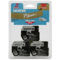 Brother M-9213 3/8 Black on Silver OEM Tape