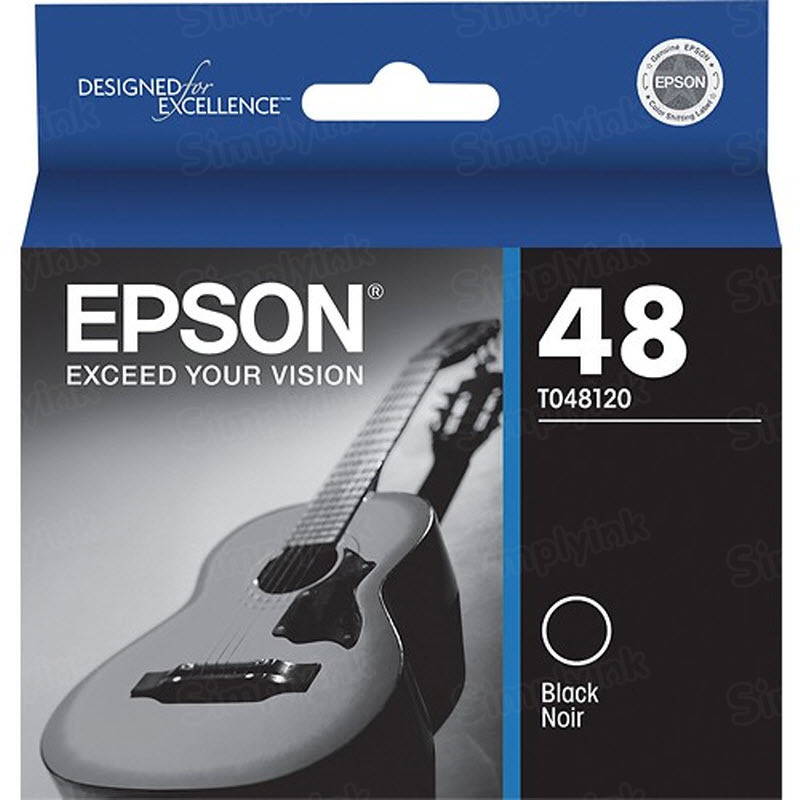 Epson 48 Black OEM Ink Cartridge (T048120)