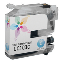 Compatible Brother LC103C High Yield Cyan Ink Cartridges