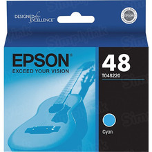Original Epson 48 Cyan Inkjet Cartridge (T048220)