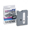 Brother TX-1351 1/2 White on Clear OEM Tape