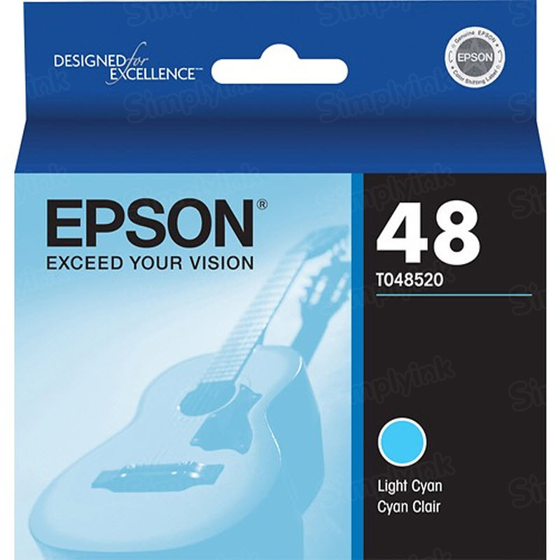 Epson 48 Light Cyan OEM Ink Cartridge (T048520)