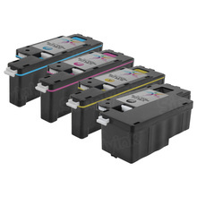 Compatible Set of 4 Replacement Toners for use in the Dell E525w, (Black, Cyan, Magenta, Yellow)