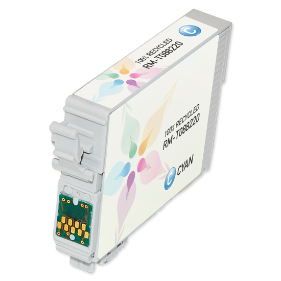 Epson Remanufactured T088220 (T0882) Cyan Inkjet Cartridge