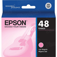 Original Epson 48 Light Magenta Inkjet Cartridge (T048620)