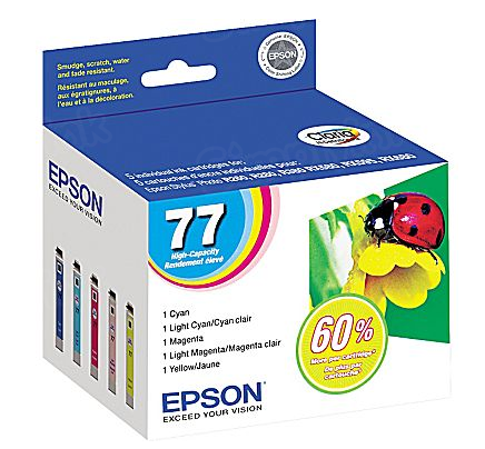Epson 77 Color OEM Ink Cartridge 5PK