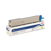 Original High Yield Yellow Laser Toner Cartridge for Okidata 43459301 2K Page Yield