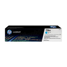 HP 126A (CE311A) Cyan Original Toner Cartridge in Retail Packaging