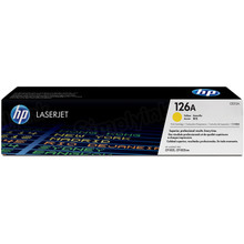 HP 126A (CE312A) Yellow Original Toner Cartridge in Retail Packaging
