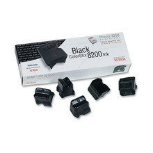 OEM Xerox Phaser 8200 (16204000) Black Ink Cartridges (5-Pack)