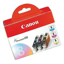 Canon CLI-8 OEM Ink Cartridge Color 3-Pack, 0621B016