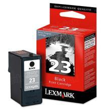 Lexmark #23 Black Inkjet Cartridge, OEM 18C1523