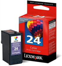 Lexmark #24 Color Inkjet Cartridge, OEM 18C1524