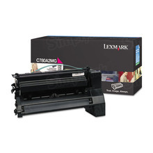 Lexmark OEM Magenta Laser Toner Cartridge, C780A2MG (C780dn / C782dn) (6,000 Page Yield)