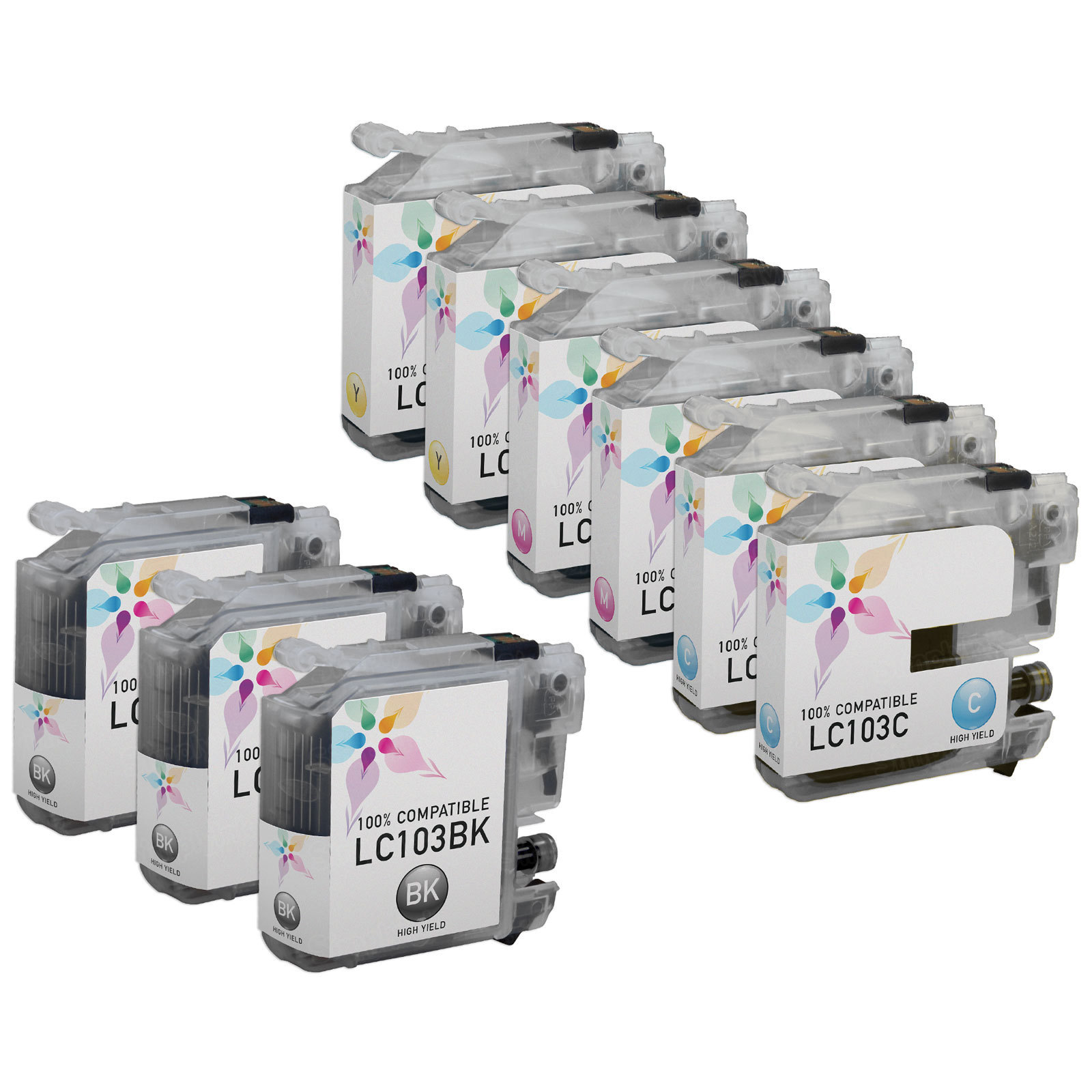 Brother Compatible LC103 Ink Set of 9