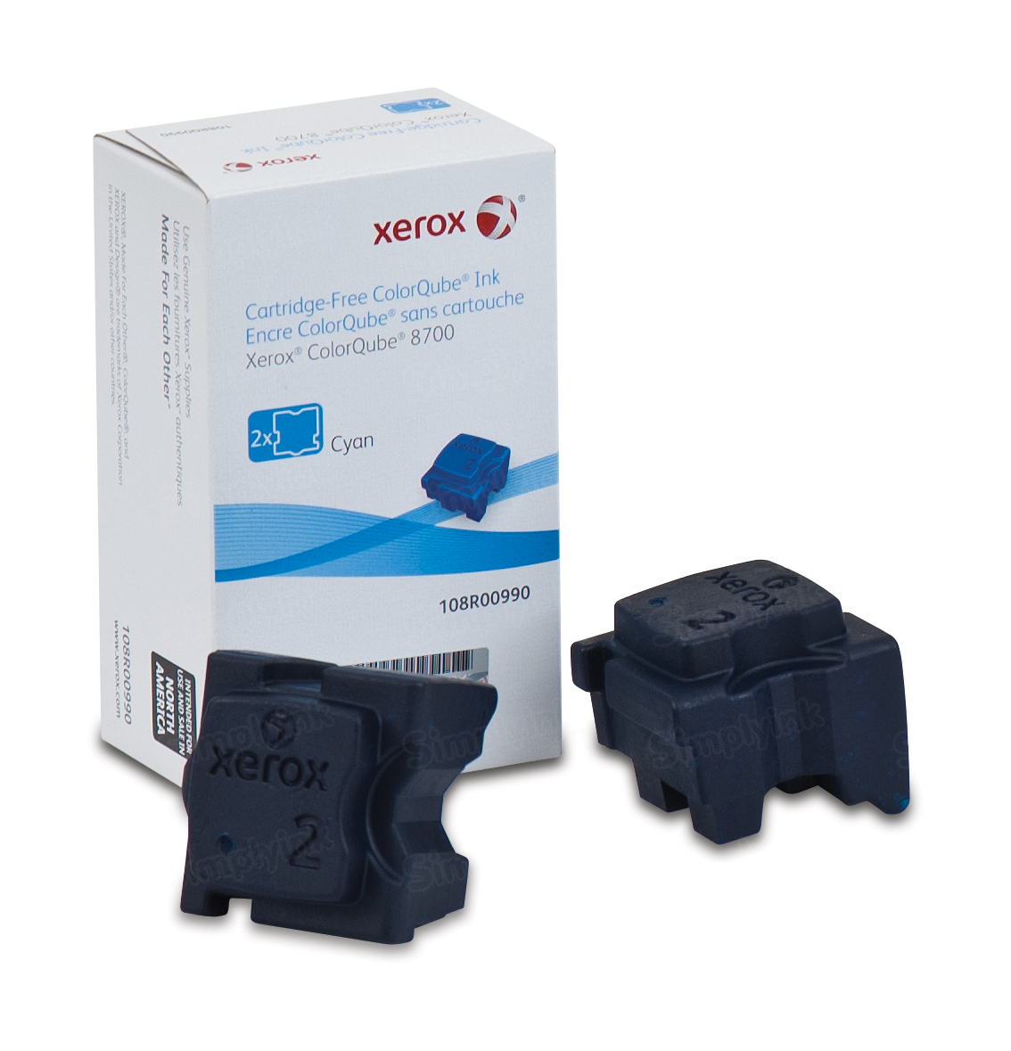 Xerox 108R990 Cyan Ink Sticks 2-Pack